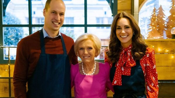 Príncipe William, Mary Berry y Kate Middleton