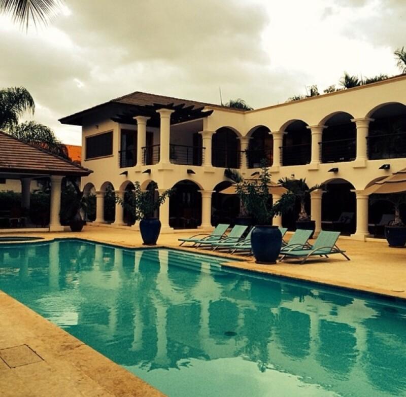 Esta es la residencia que ocuparon él y su novia por unos días.
