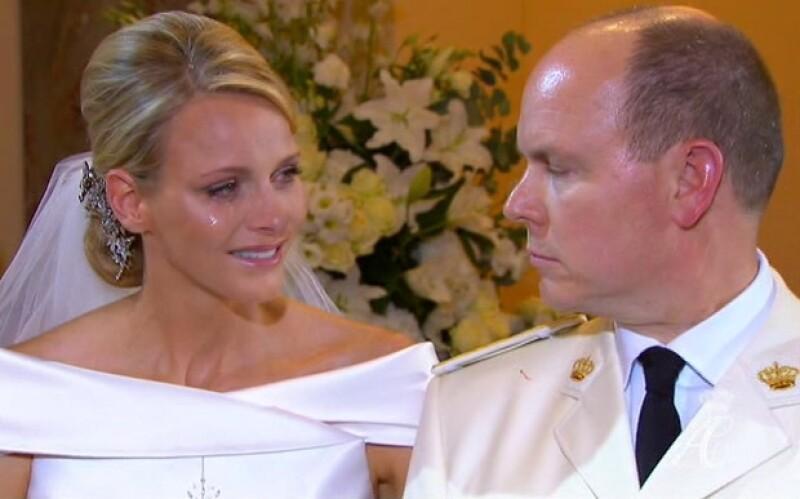 Esta imagen dijo más que mil palabras durante la boda de Charlène y Alberto.