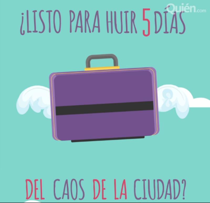 Vas a salir de viaje por cinco días, no te compliques ni lleves hasta al périco, aquí te decimos cómo hacer para que tu maleta te rinda y te permita viajar ligero.