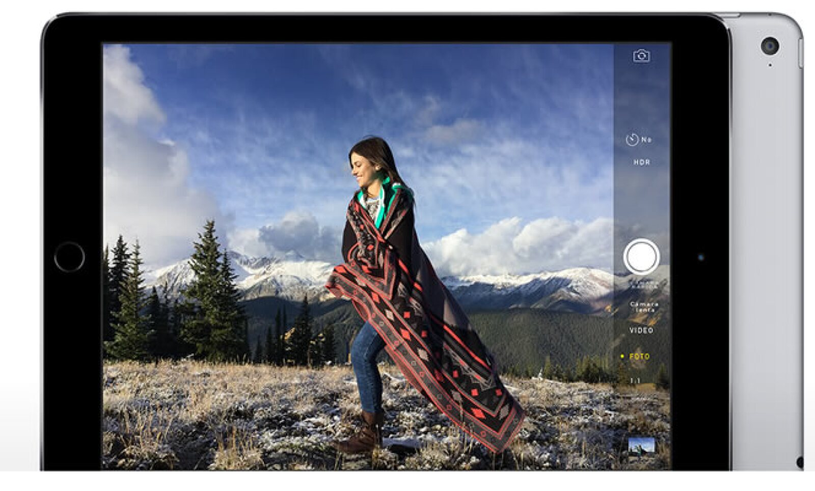 La tableta cuenta, según Apple, con las mejores cámaras que se han hecho para una iPad, tanto la iSight, como la cámara frontal FaceTime HD.