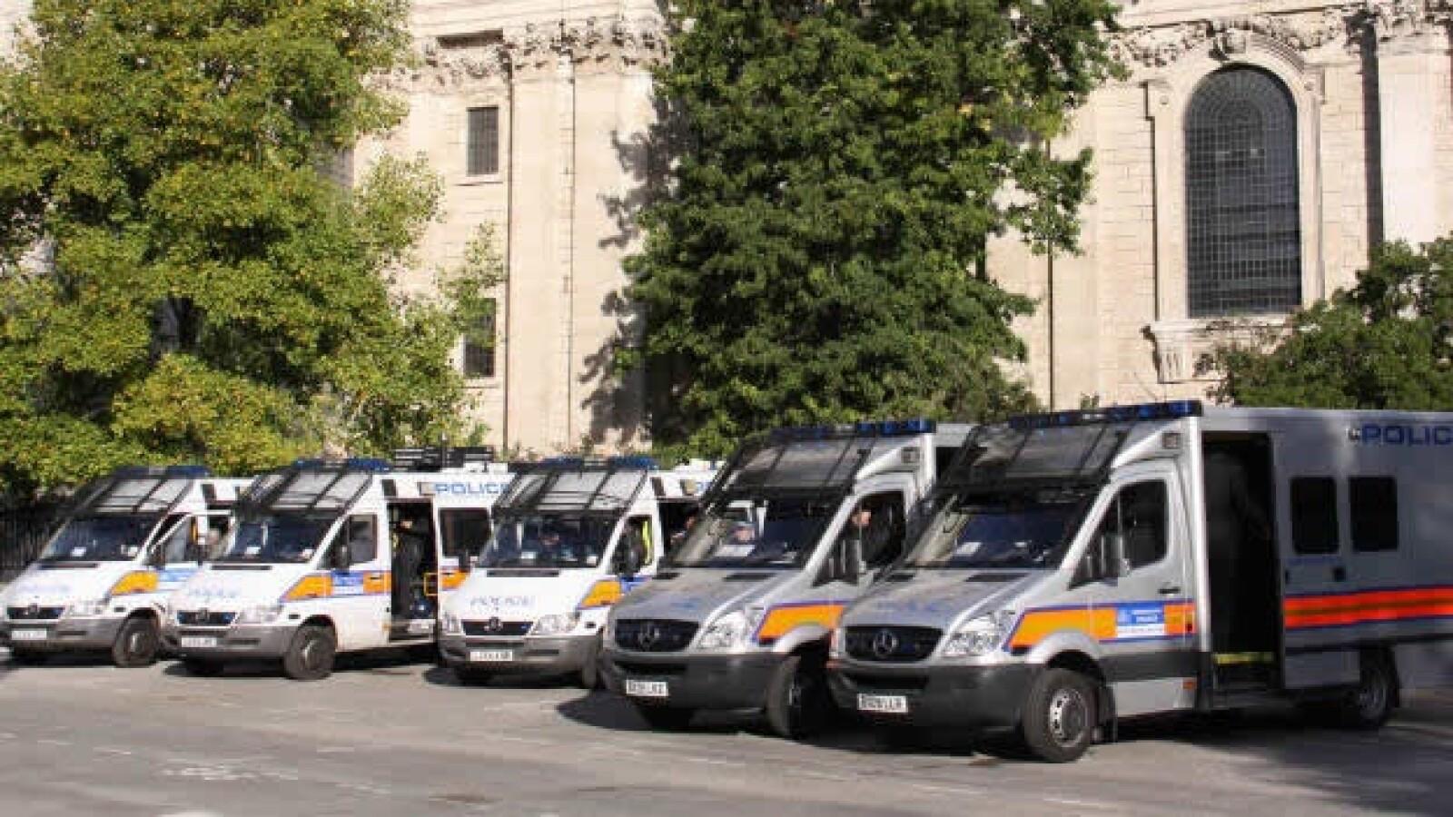 Ocupa Londres - policía