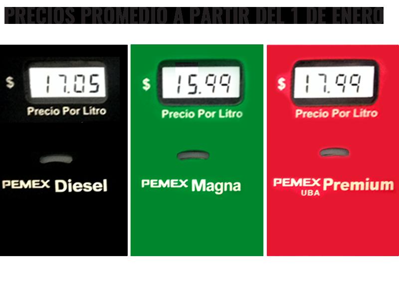la gasolina será más cara a partir del 1 de enero