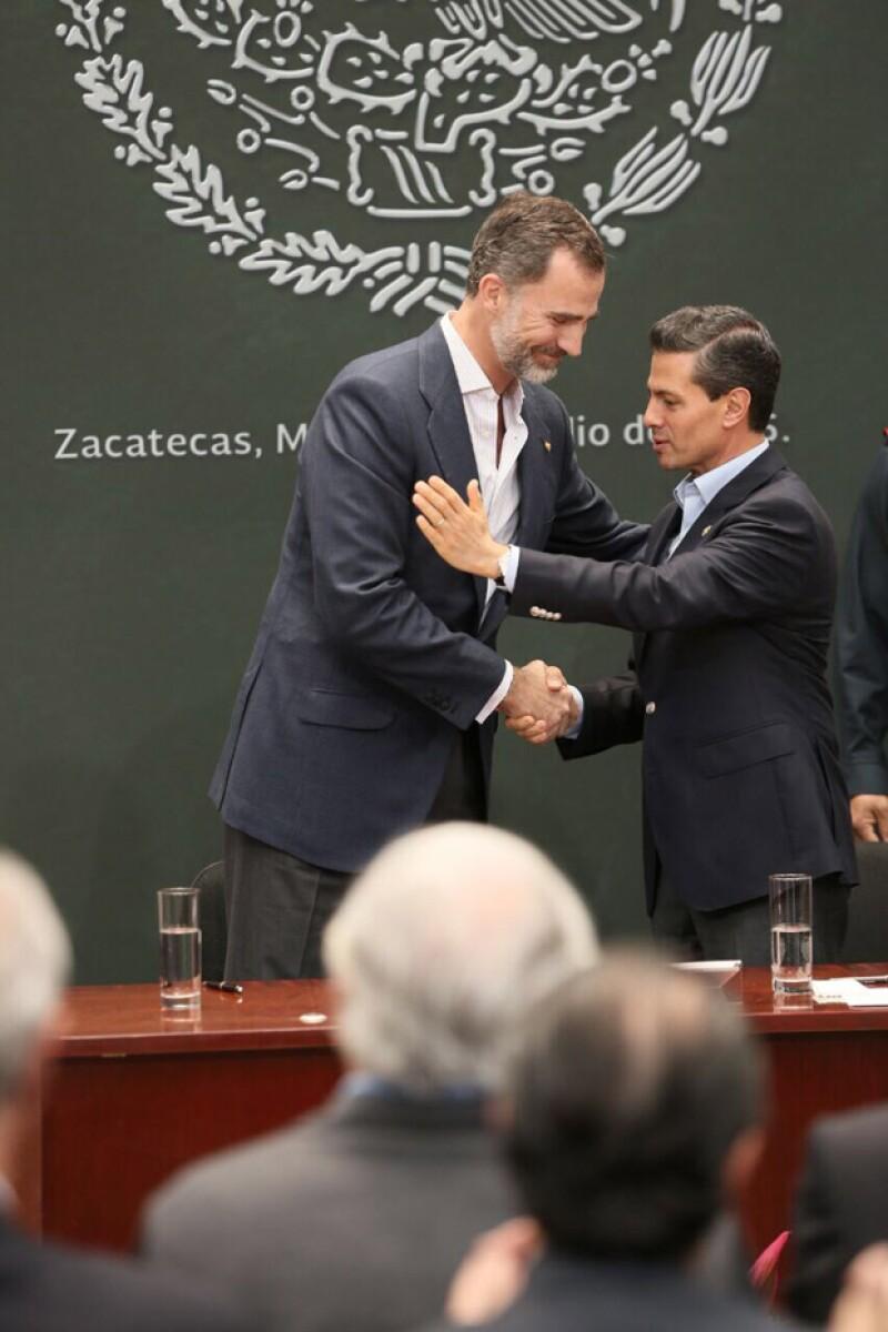 `En México recordaremos muy gratamente ésta, la primera Visita de Estado de Sus Majestades, a nuestro país´, dijo Enrique Peña Nieto durante su discurso de despedida.