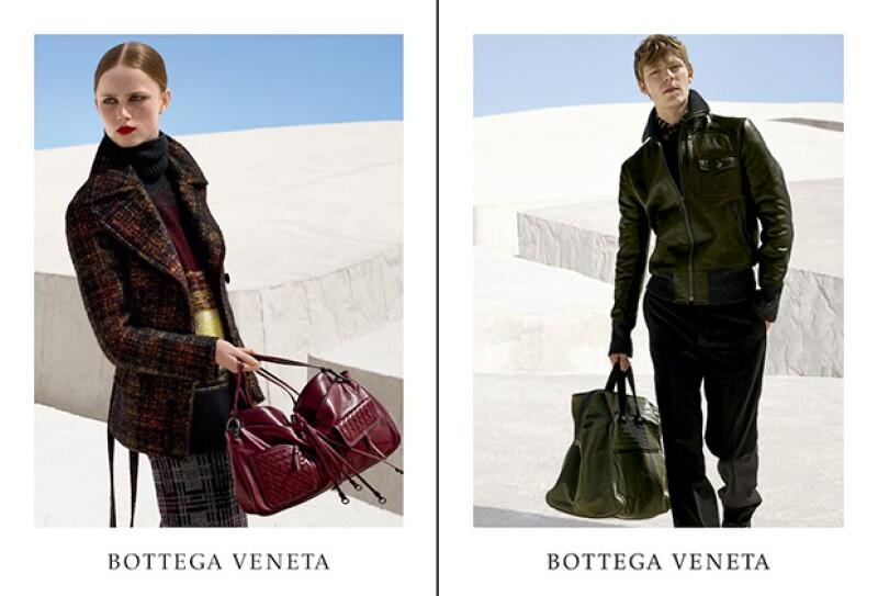Los modelos Simon Fitskie y Rianne Van Rompaey, fueron una pieza más para lograr el increíble resultado.