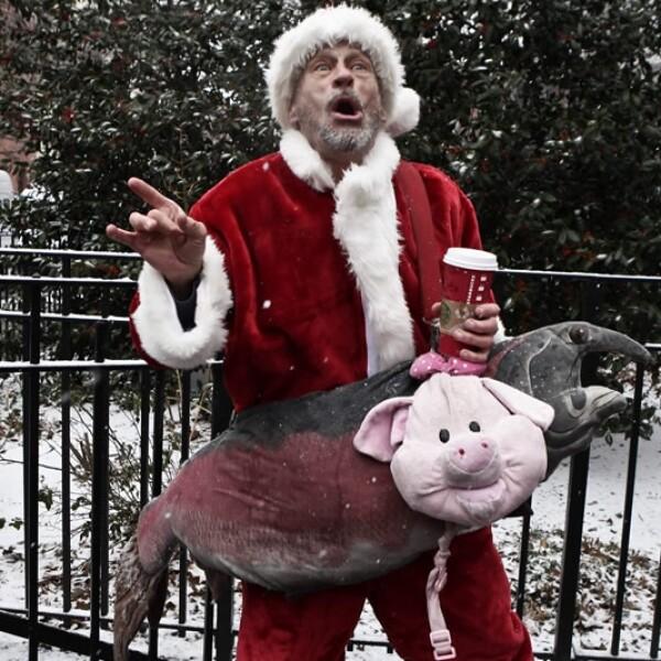 Santa desvelado en Nueva York Santacon