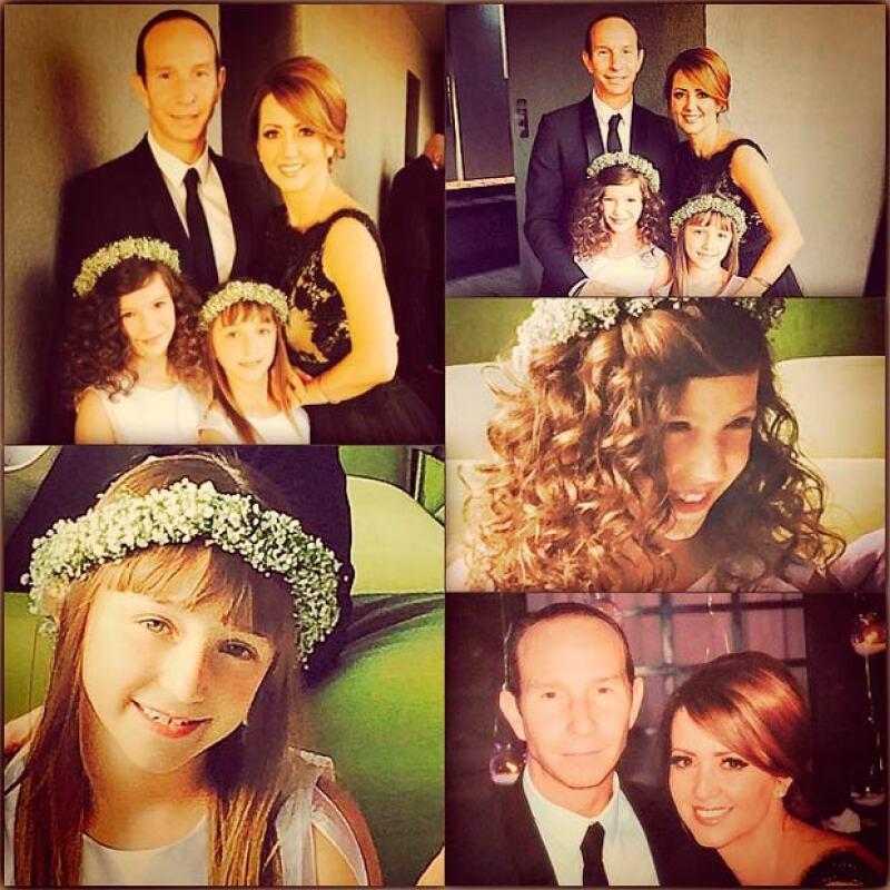 La conductora y su familia estuvo de festejo este fin de semana con la boda de su hermano Juan Carlos.