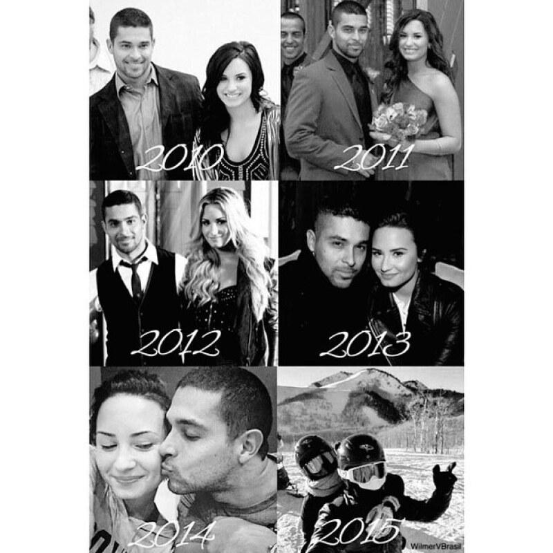 El actor fue festejado en las redes sociales por Demi, quien mostró su creciente amor conforme los años.