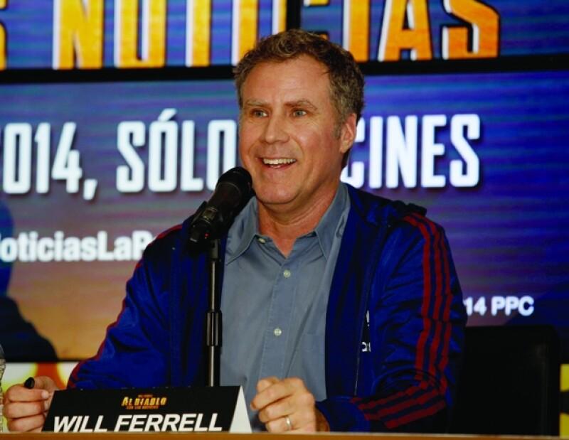 Will Ferrell durante su conferencia de prensa en la Ciudad de México.