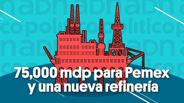 75 mdp para Pemex y una nueva refinería