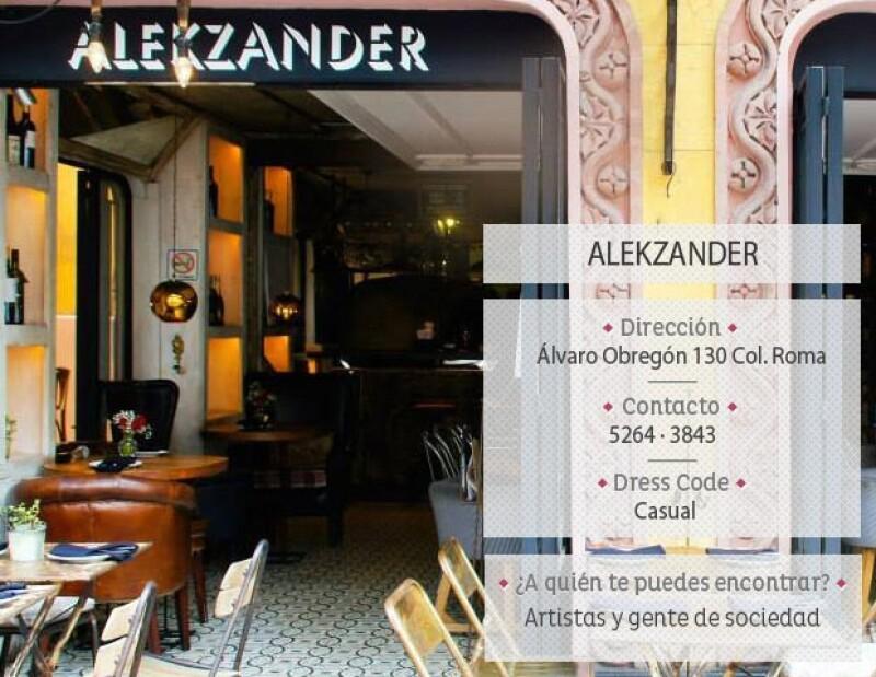 Alekzander se encuentra ubicado en la conocida avenida Álvaro Obregón.