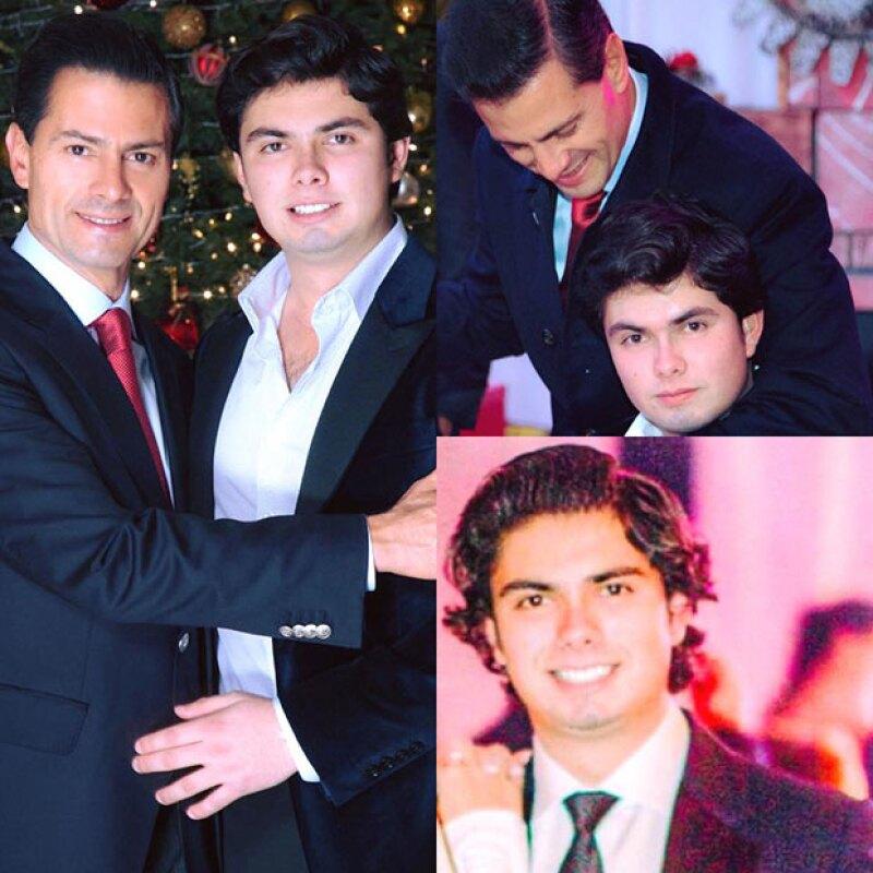 Alejandro Peña Pretelini cumplió la mayoría de edad, y su papá aprovechó las redes sociales para mandarle una felicitación.