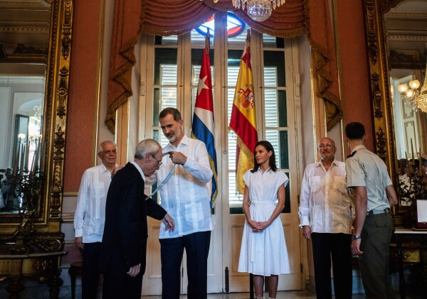 CUBA-SPAIN-ROYALS-LEAL