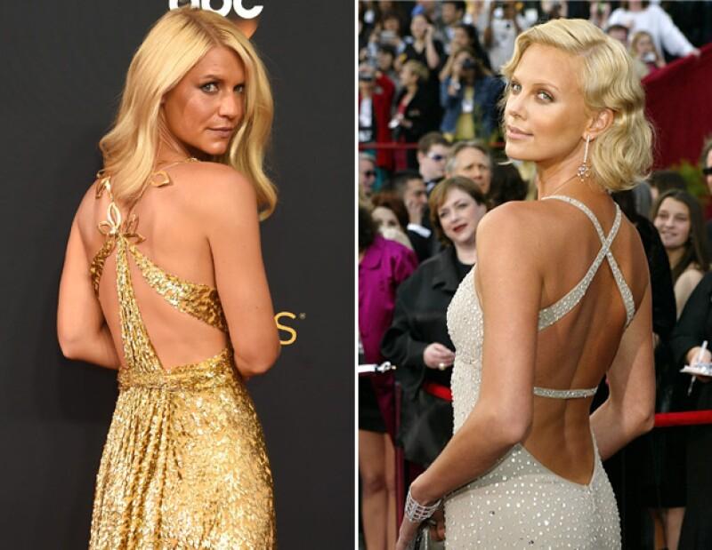 Claire llevó un look de Schiaparelli en esta edición de los Emmy. Charlize optó por un vestido de Gucci en los Oscar de 2004.