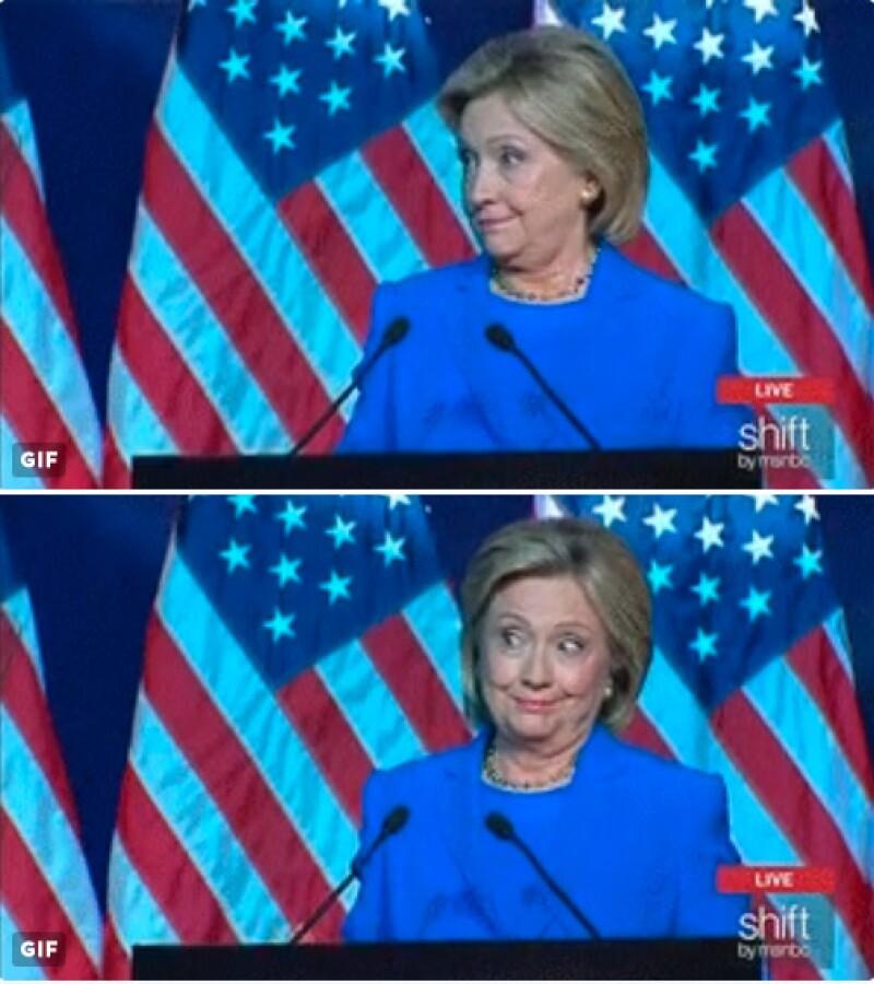 O simplemente Katy quería referirse a Hillary y mostrar su apoyo a la canditada del partido demócrata para la presidencia de EU.