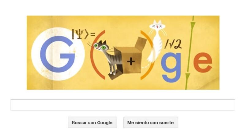doodle, google, schrodinger, mecanica