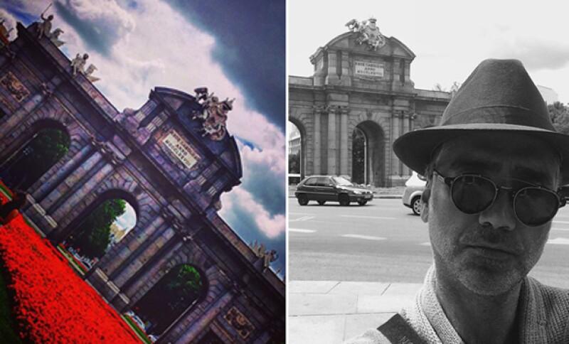 El Potrillo disfrutó de sus días en Madrid a los pies de La Puerta de Alcalá.