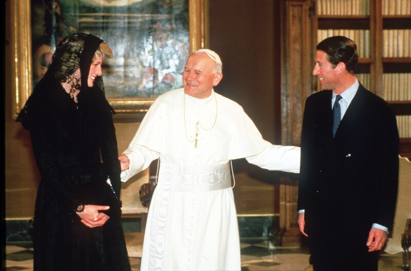 The Prince And Princess of Wales State Visit To The Vatican - April, 1985