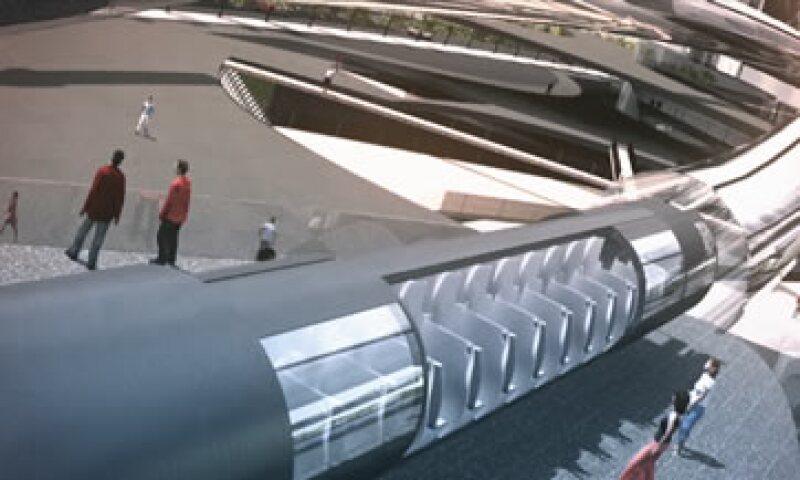 Este sistema viajaría a más de 1,126 kilómetros por hora. (Foto: Hyperloop/Cortesía)