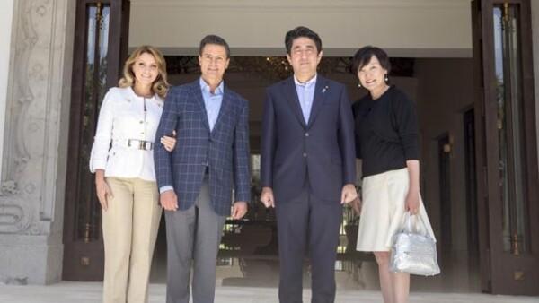 Este fin de semana, durante la visita oficial del primer ministro de Japón, Shinzo Abe, y su esposa Akie Abe, la primera dama lució un tono rubio en el pelo.