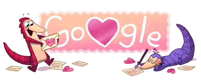 Google festeja el día de San Valentín.
