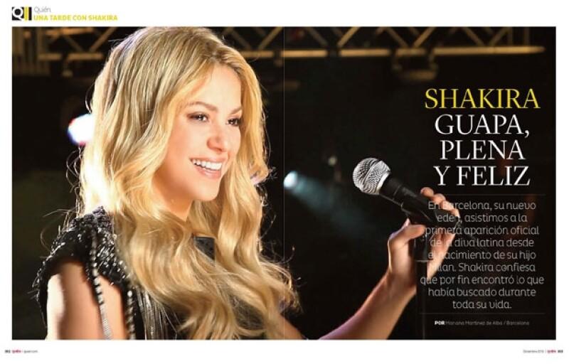 Shakira está viviendo el mejor momento de su vida.