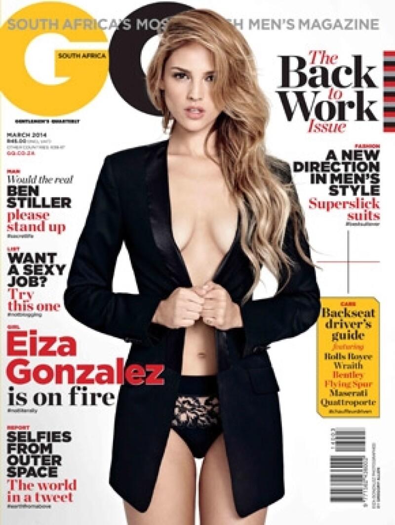Eiza es la primera mexicana en posar para esta publicación en Sudáfrica.