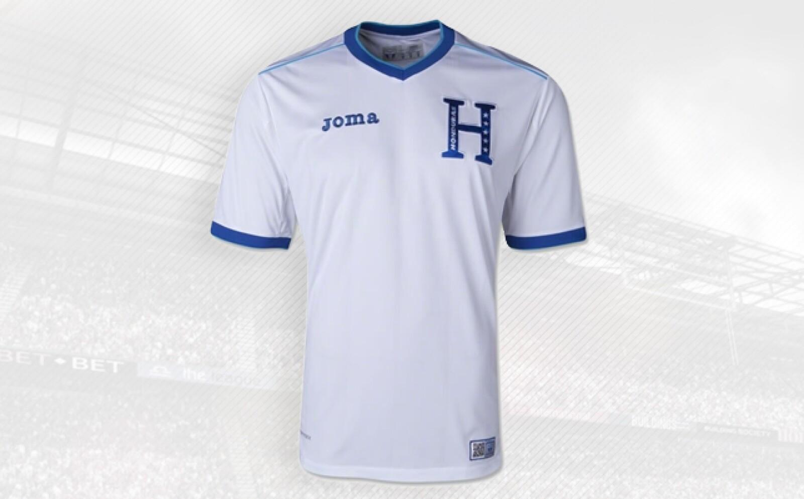 Los Catrachos usan uniformes de la española Joma, fundada en 1965.