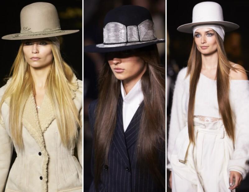 Los sombreros fueron un elemento clave para la colección.