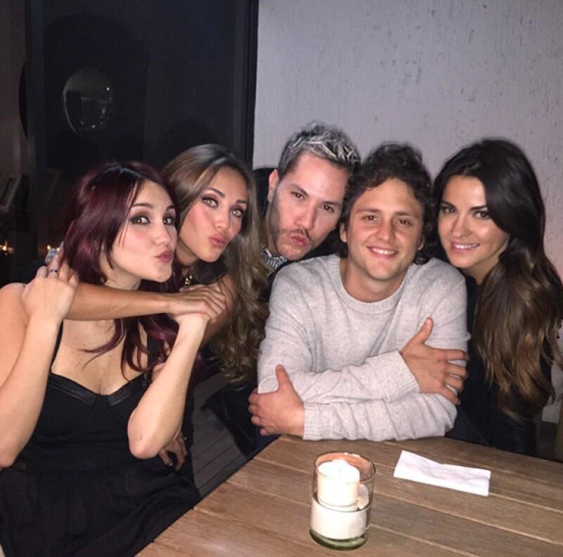 En febrero del año pasado, Christopher, Anahí, Cristian, Dulce María y Maite se reunieron en una íntima cena.