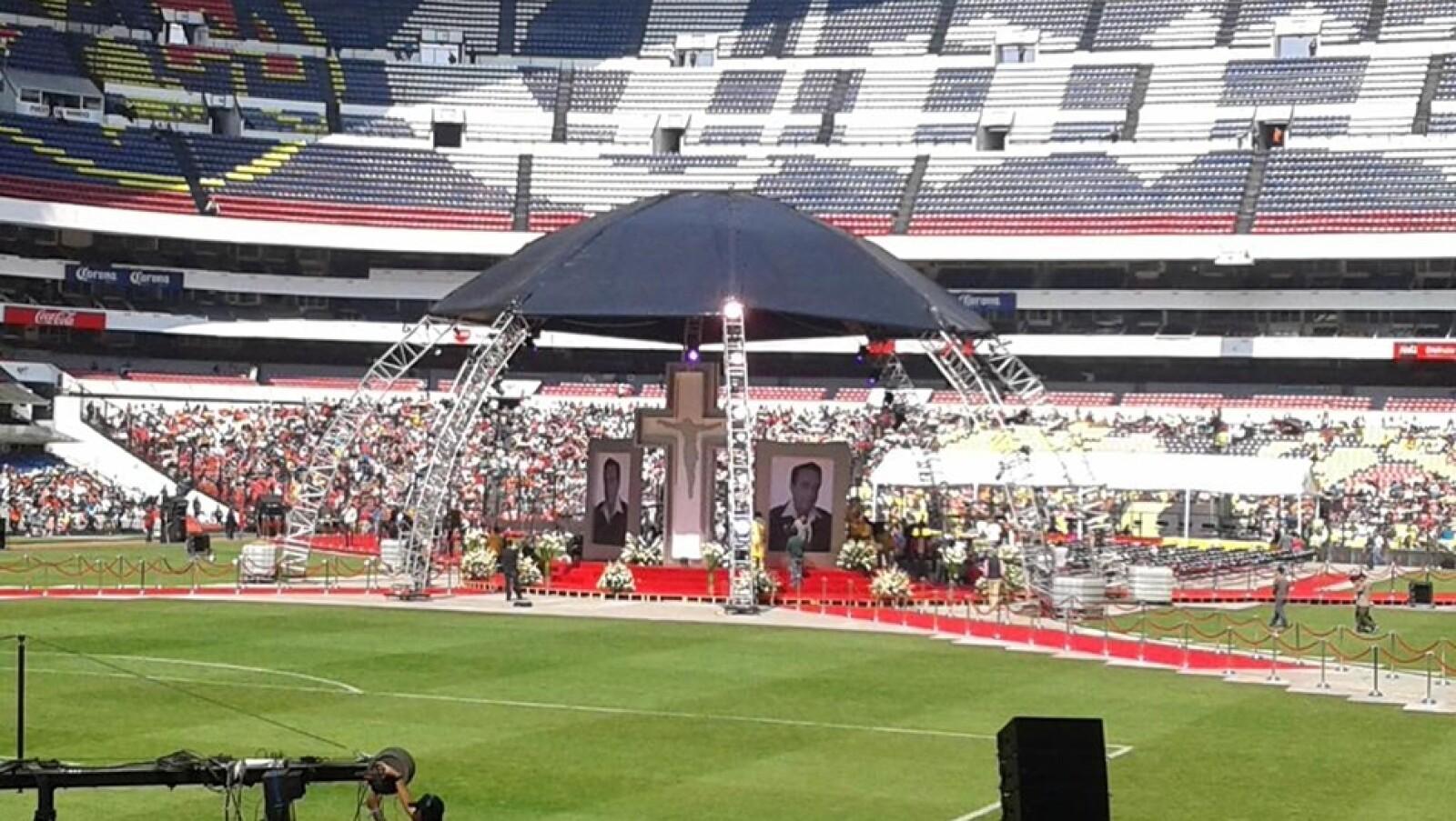 chespirito homenaje estadio azteca 9