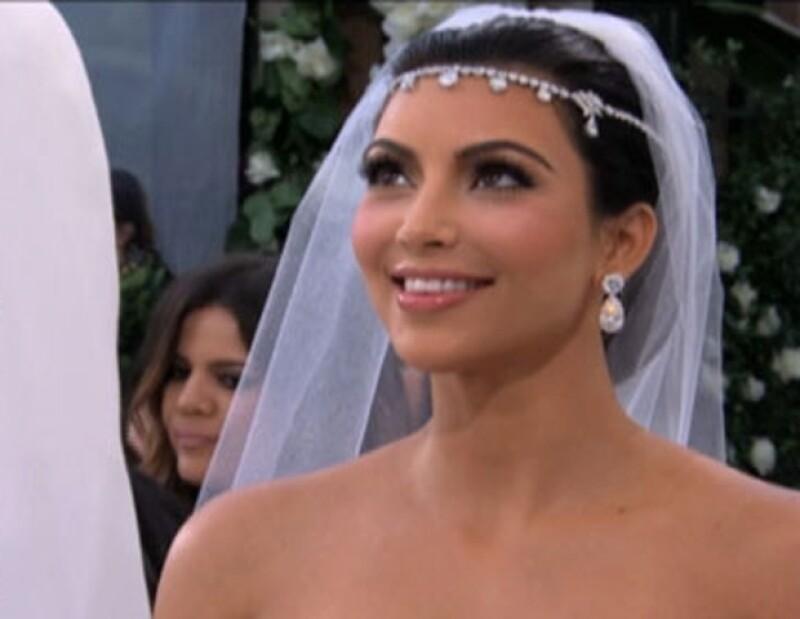 Para Kim es su segunda boda, mientras que para Kris es la primera.