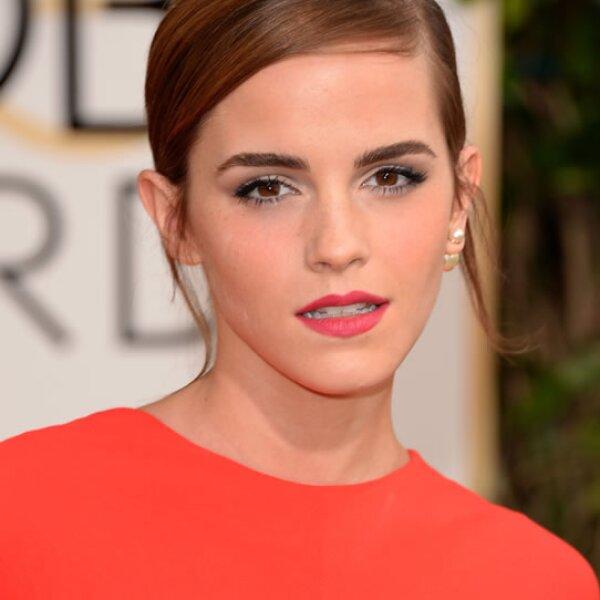 Así la vimos en la red carpet de los Golden Globes de 2014.