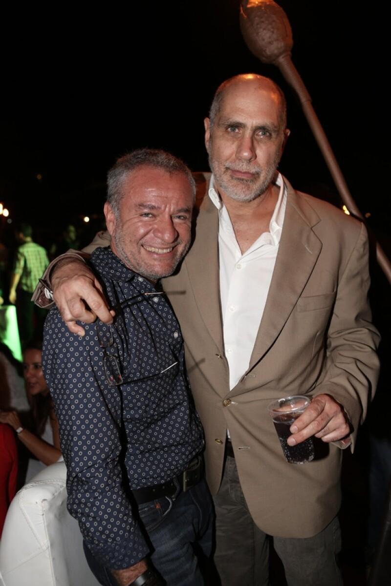 José Alberto Castro y Guillermo Arriaga ayer por la noche en Los Cabos.