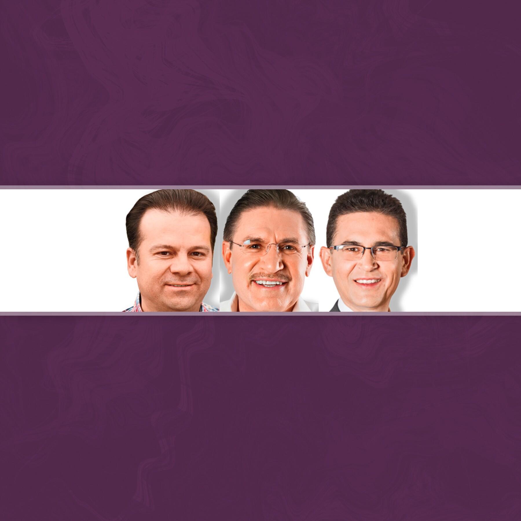 Esteban Villegas, José Rosas Aispuro y Alejandro Campa.