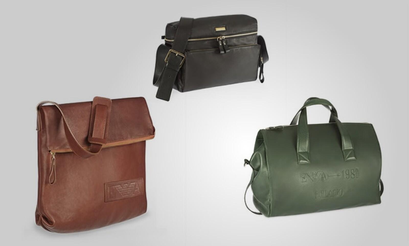 La primera tendencia que propone la firma italiana es mochilas en colores desérticos, fabricadas en piel y con varios compartimentos en su interior.