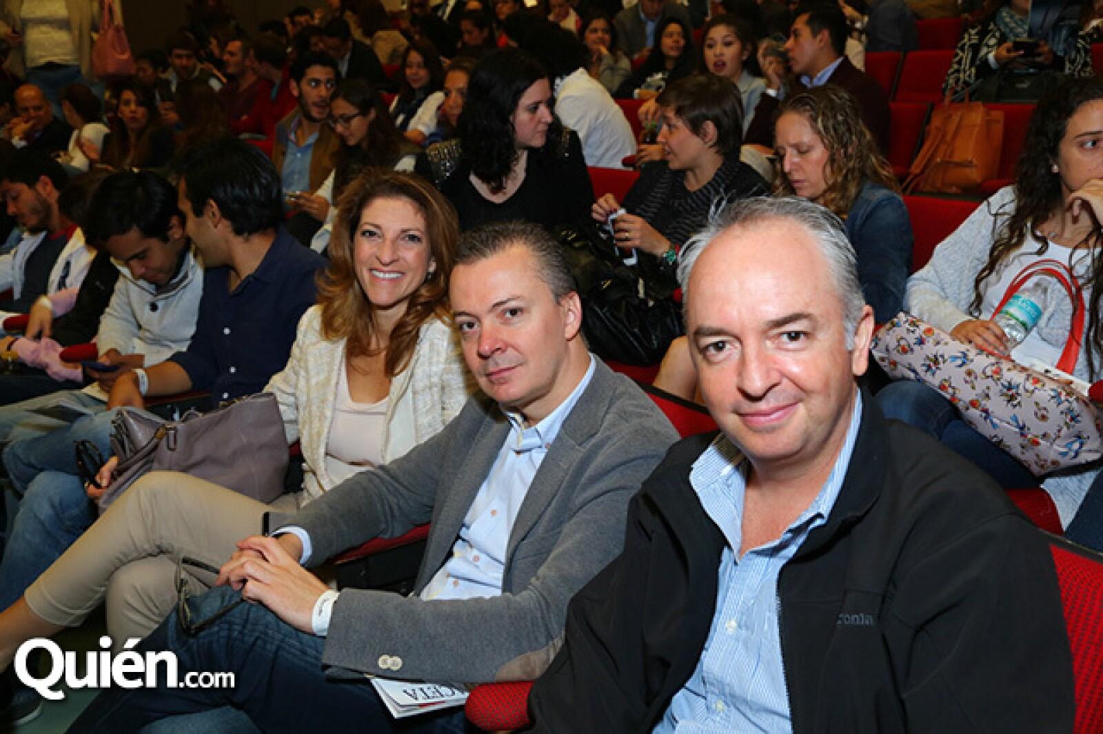 Anne Davie, Jorge Ibarra y Humberto Barroeta