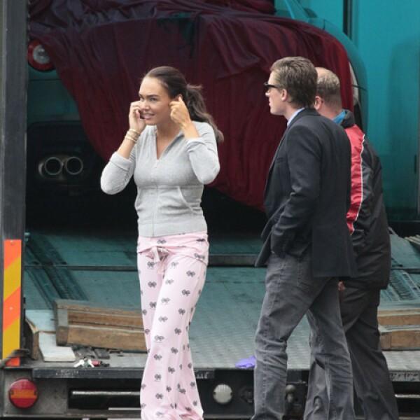 La hija de Bernie, quien a principios de los noventas alimentó la rivalidad entre los pilotos Ayrton Senna y Alain Prost, recibió su Ferrari en pijama.
