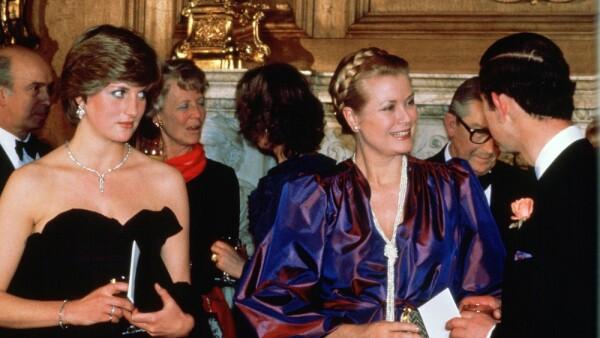 La princesa Diana, Grace Kelly y el príncipe Carlos