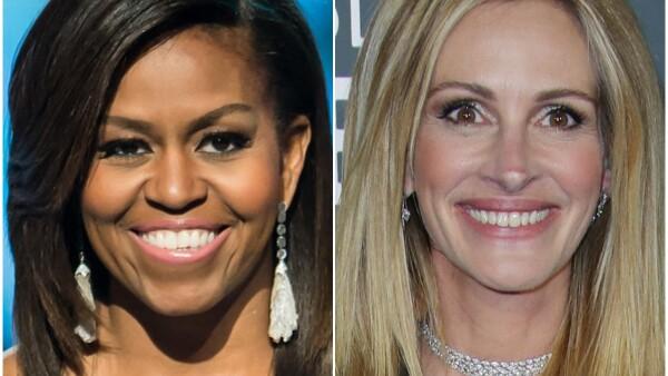 Michelle Obama y Julia Roberts