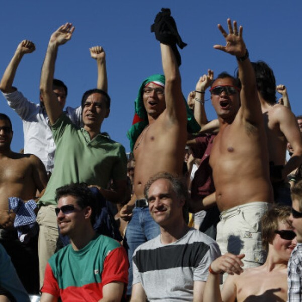 Los berlineses vieron el partido inicial del Mundial