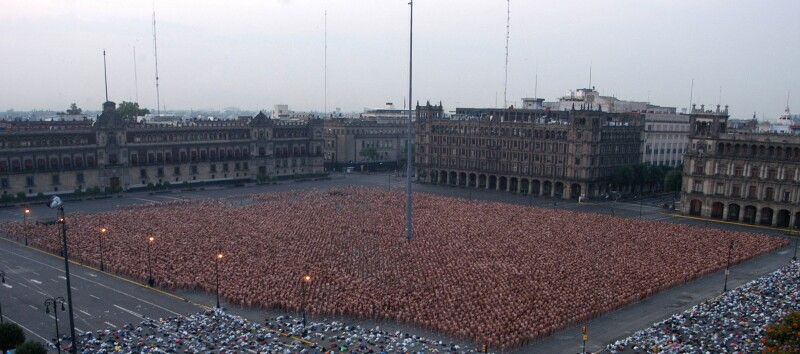 Spencer Tunick Zócalo
