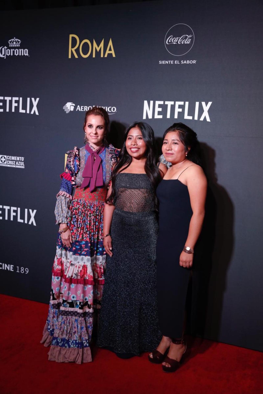 Marina de Tavira, Yalitza Aparicio y Nancy García.