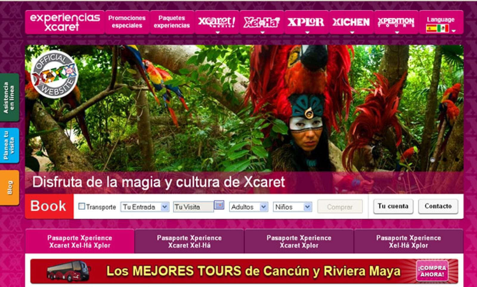 El portal Experiencias Xcaret, integra los tres parques de la empresa y tours, generando así ventas directas y un mayor posicionamiento de marca.