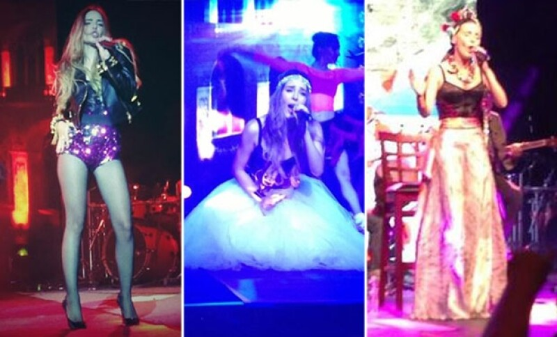 """La cantante de pop más famosa de México dio por inaugurada su gira por la República mexicana en un show en Monterrey, momento que compartió en un video de """"keek""""."""
