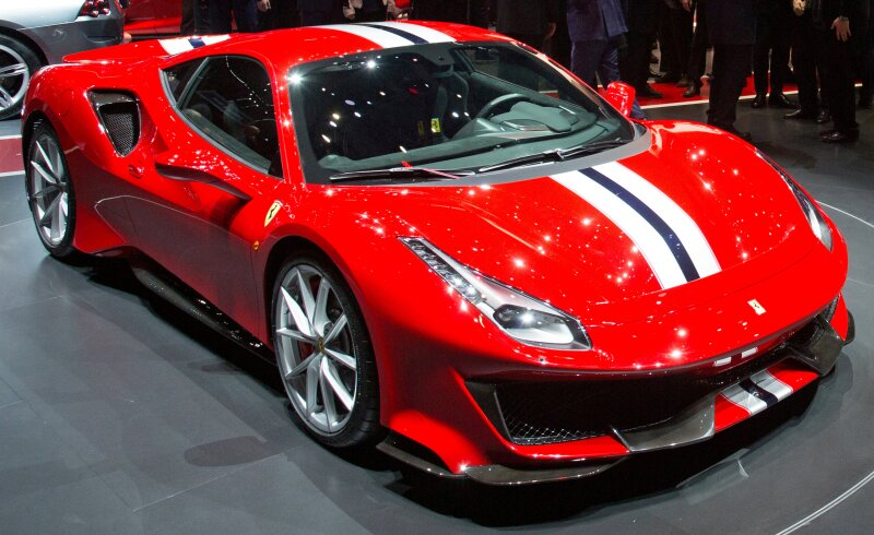FILE PHOTO: A  Ferrari 488 Pista at the Geneva International Motor Show