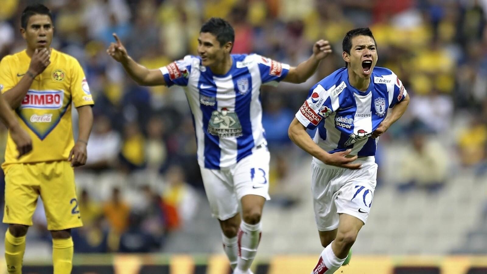 Hirving Lozano metió su primer gol en la primera división