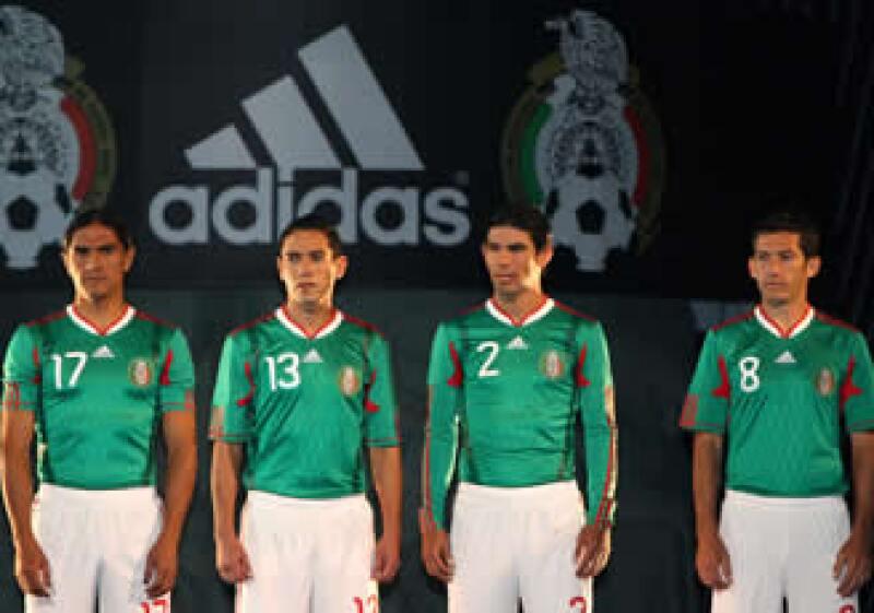 La Selección Mexicana, bajo el patrocinio de Adidas. (Foto: Especial)