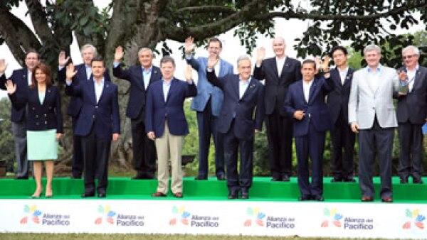 La Alianza del Pacífico se concibió en abril de 2011 para construir un área de integración entre México, Colombia, Chile y Perú. (Foto: Notimex)