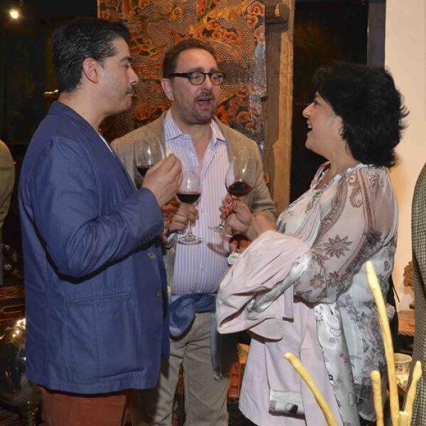 Ernesto Cuellar, Mack Campbel y Marcela Duran Franjuti